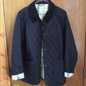 Barbour navy Annandale coat